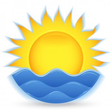 The sun and the sea. An icon for the project. eps10
