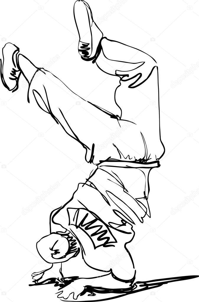 tipo a tipo de break dance baile bailar break dance — Archivo ...