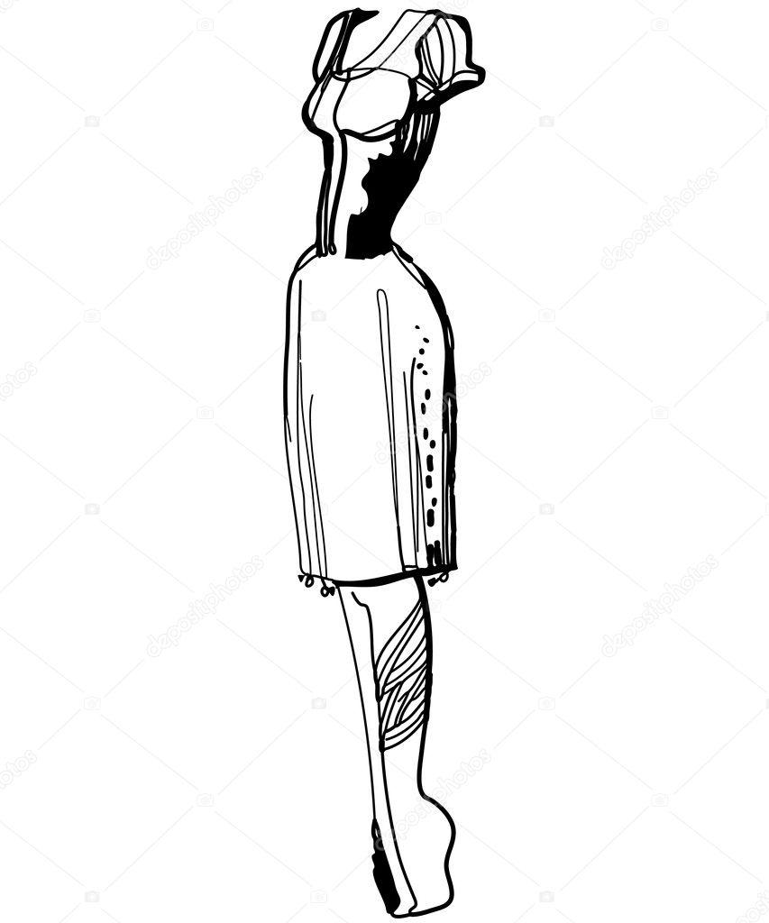Эскизы черно белые платьев