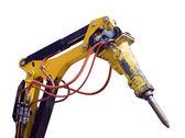Close-up dei tubi idraulici e meccanici