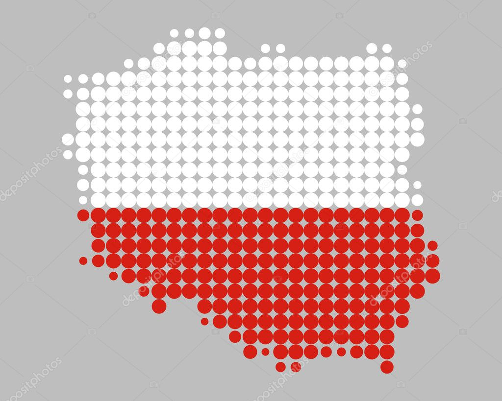 map and flag of poland u2014 stock photo rbiedermann 5415274