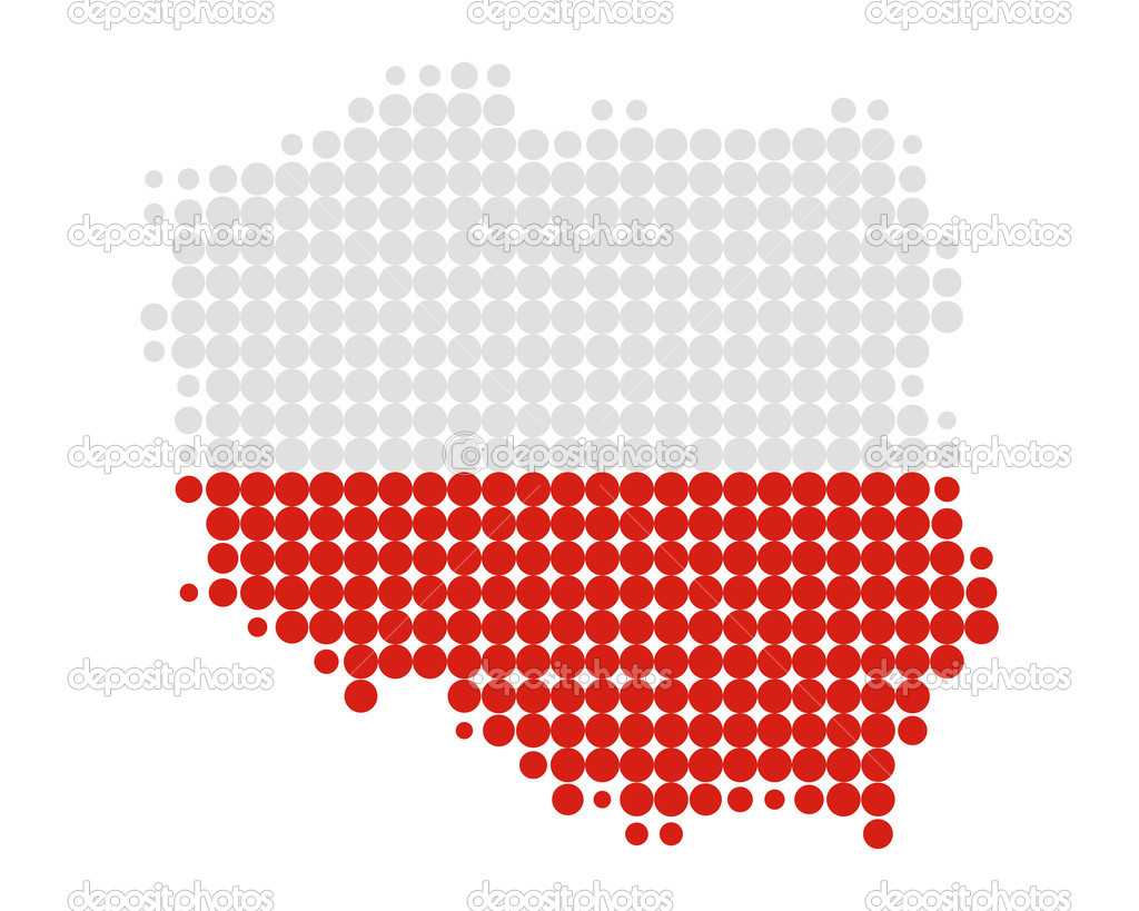 map and flag of poland u2014 stock photo rbiedermann 5885010