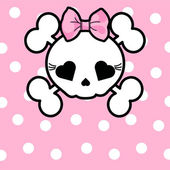 Photo Cute Skull with bow
