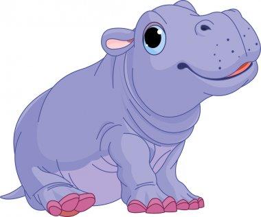 Cartoon baby Hippo boy