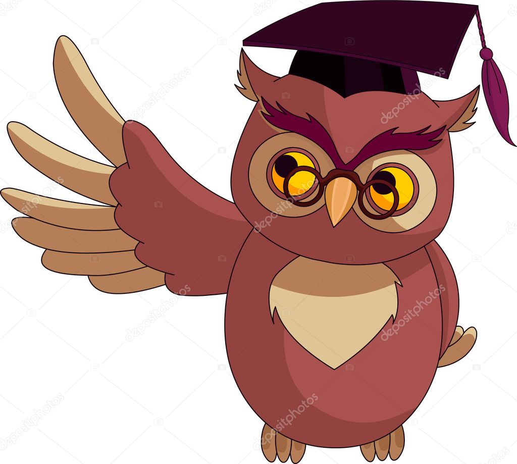 Cartoon wise owl with graduation cap stock vector dazdraperma cartoon wise owl with graduation cap stock vector 6181166 voltagebd Choice Image