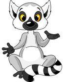 Fotografie Sitting lemur explain
