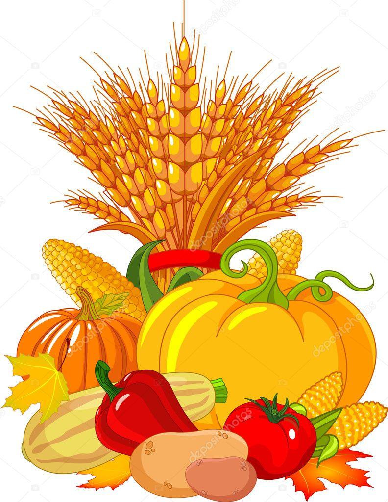 Thanksgiving harvest design
