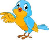 Fotografie roztomilý kreslený pták