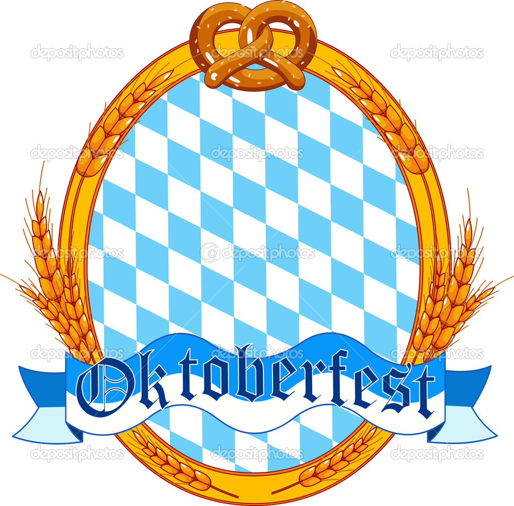 Oktoberfest oval label design — Stock Vector © Dazdraperma ...