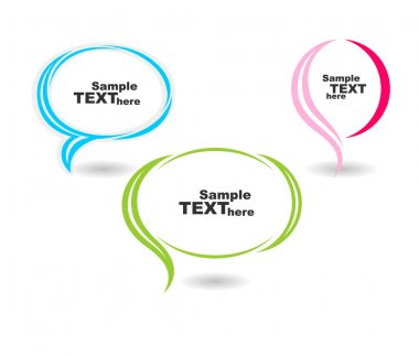 Colour speech bubbles text vector isolated stock vector