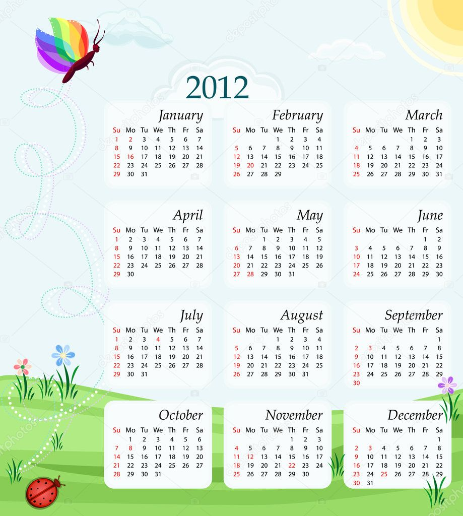 Calendar 2012 - USA version