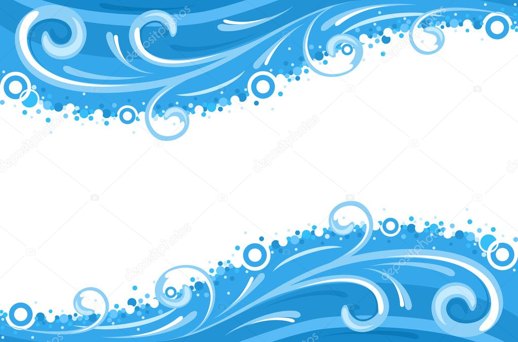 Water waves borders