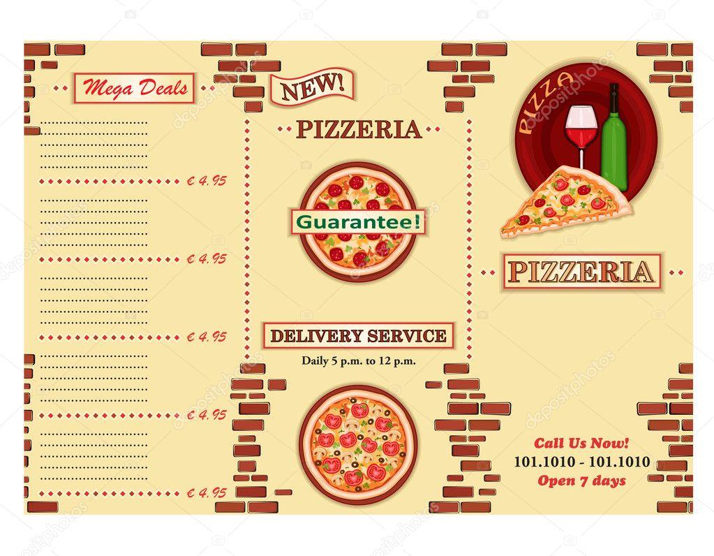 Pizzeria-Restaurant-Broschüre — Stockvektor © Eireann #6376718