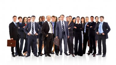 Group of business . Isolated over white background