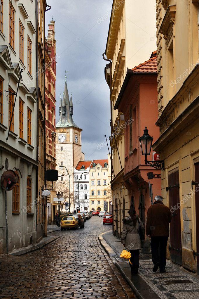 Фотообои Small street in Prague