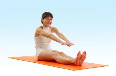 Series of yoga asana photos