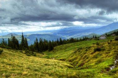 Mountains landscape stock vector
