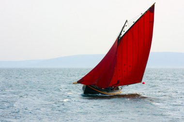 Galway hooker boat at Ocean race
