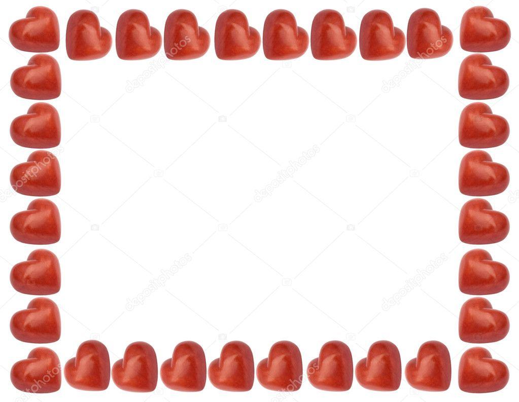Amore cornice con cuori rossi foto stock fotoall 6737888 for Immagini di cuori rossi