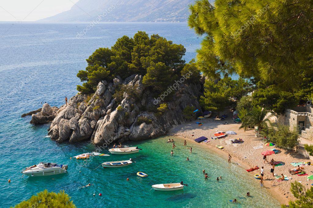 Beach at Brela, Croatia