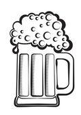grafické znázornění Beer.Vector černá skla na bílém pozadí
