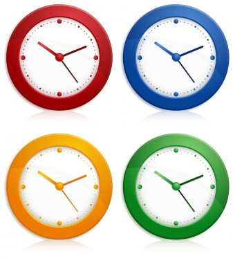 Color wall clocks