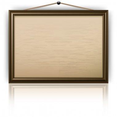 Empty notice board