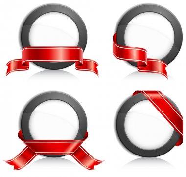 Circle with ribbon