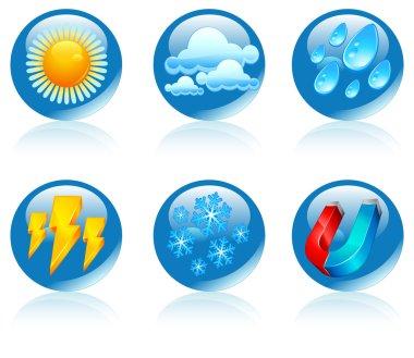 Weather round icons