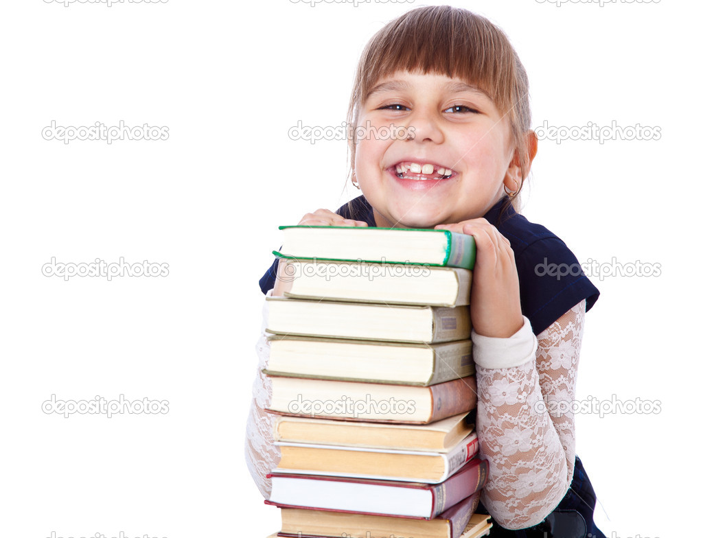 Schoolgirl with books i