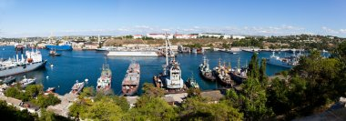 A landscape of the bay (Sevastopol, Ukraine)