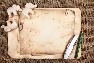 Still-life with old objects