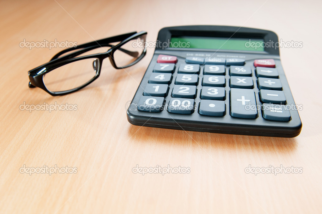 Business concept with accounting calculator — Stock Photo © Elnur_