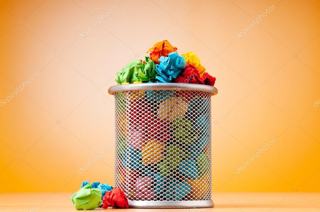essay waste paper basket