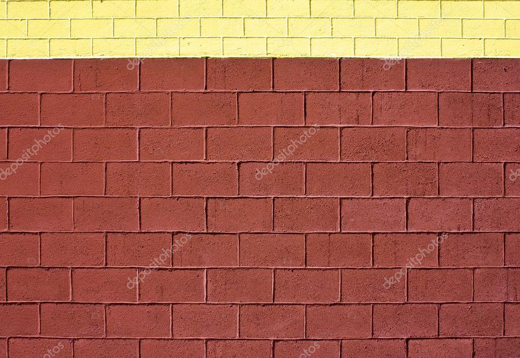 Ziegelfaktur Wand Braun Und Gelb U2014 Stockfoto