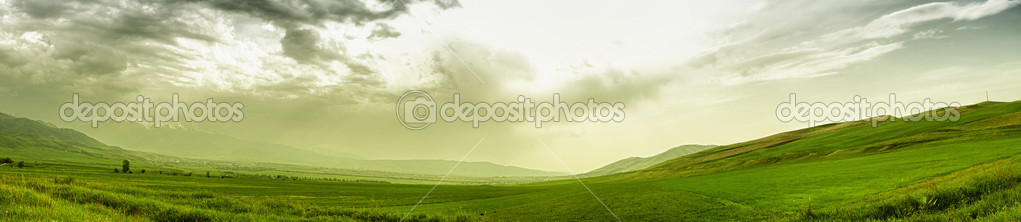 Panoramic mountain landscape
