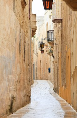 Mdina narrow street