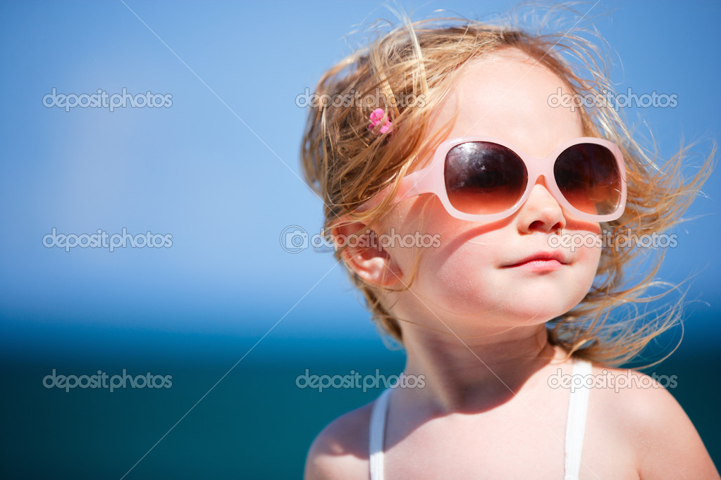 Adorable girl on vacation
