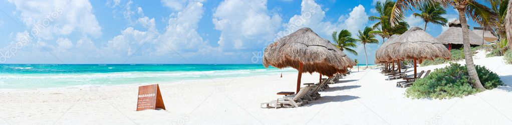 Caribbean beach panorama