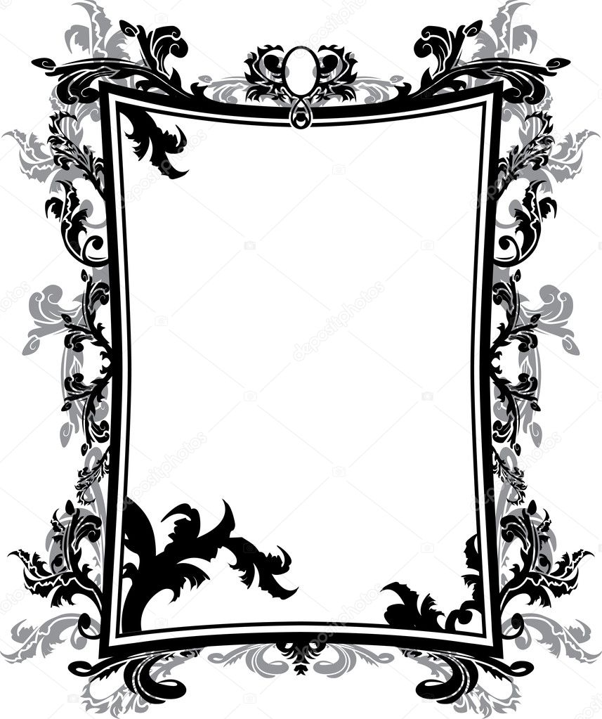 Ornate vintage frame stencil stock vector kristino0702 6621506 ornate vintage frame stencil stock vector jeuxipadfo Image collections