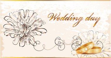 Vintage wedding card.