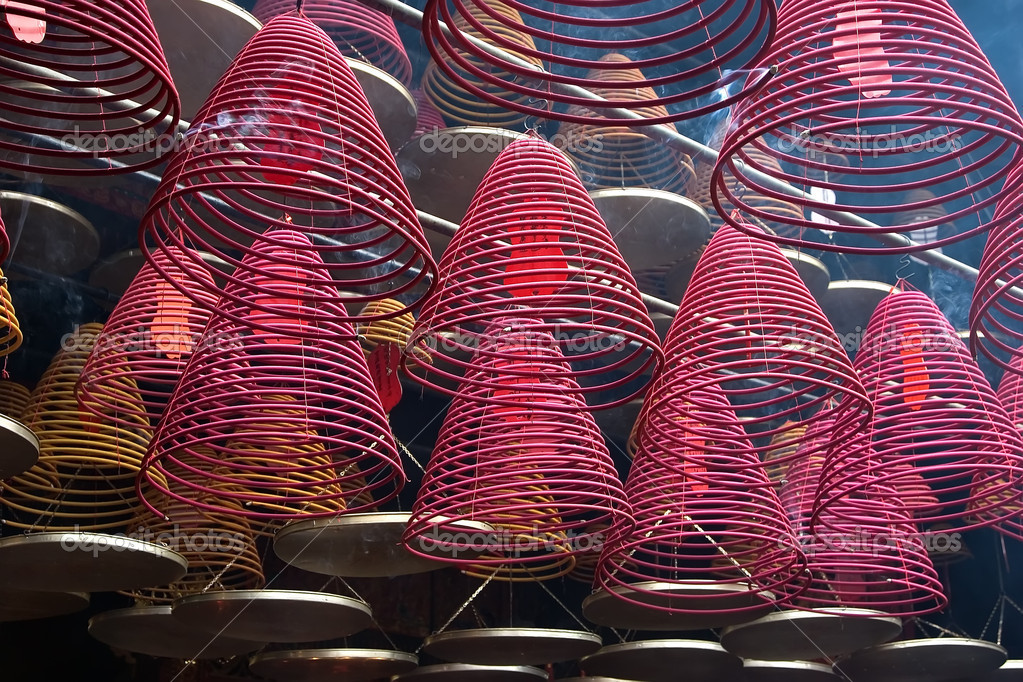 Red incense burners