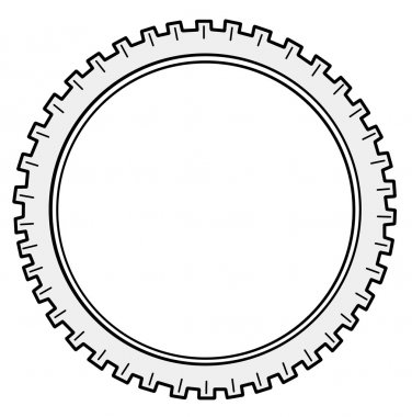 Vector silhouette cogwheel on white background