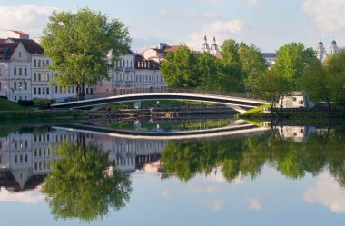 View at the Trinity Hill at Svisloch river in Minsk, Belarus