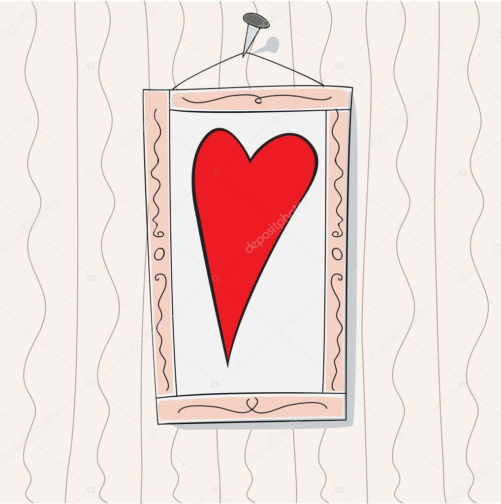 Valentine-Bild — Stock Vector © AllesGute #6732648