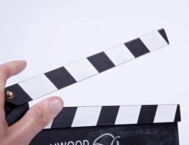 Movie clapper board open