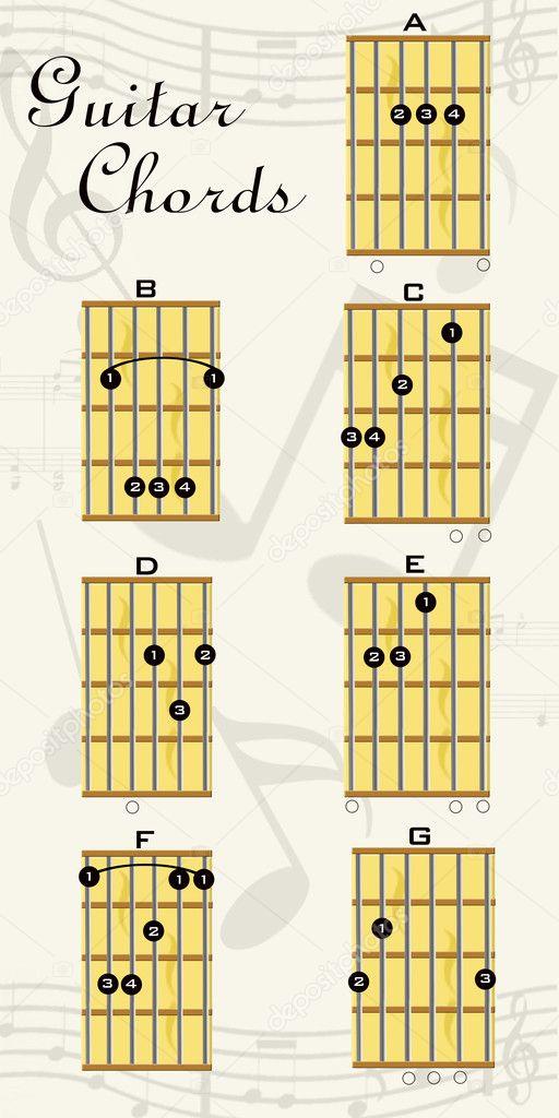 Guitar chords — Stock Photo © gvictoria #6238287