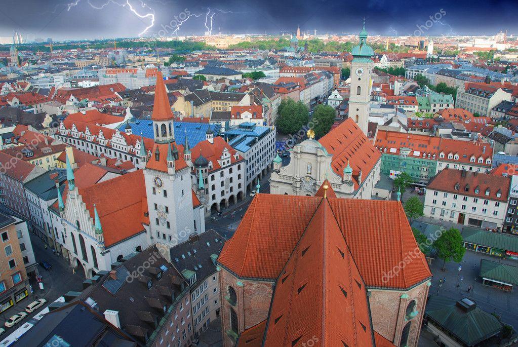 Storm approaching Munich, Germany