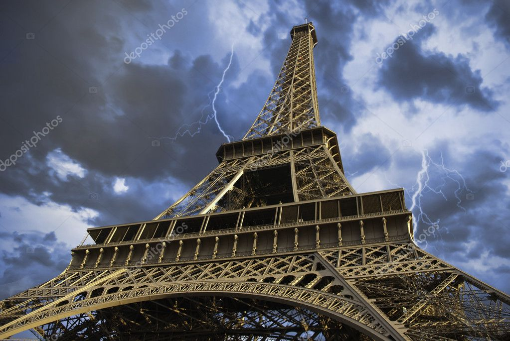 View of Eiffel Tower from Below, Paris