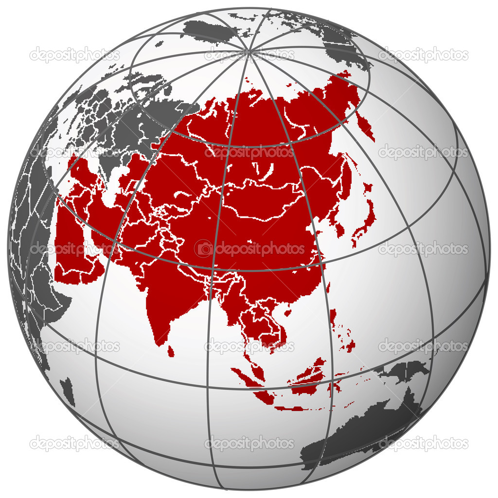 Asia on earth